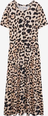 MANGO Summer Dress 'Iris' in Brown