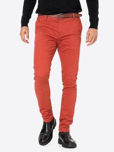 INDICODE JEANS Chino kalhoty 'GOWER' - oranžově červená, Model/ka