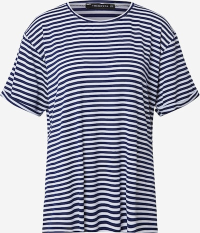 Tricou Trendyol pe bleumarin / alb, Vizualizare produs
