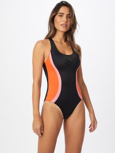 ROXY Sportbadeanzug in anthrazit / koralle / pink, Modelansicht