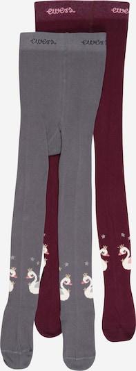 EWERS Strumpbyxa i grafit / blandade färger / vinröd, Produktvy