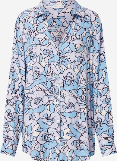 Fabienne Chapot Bluse in blau / weiß, Produktansicht