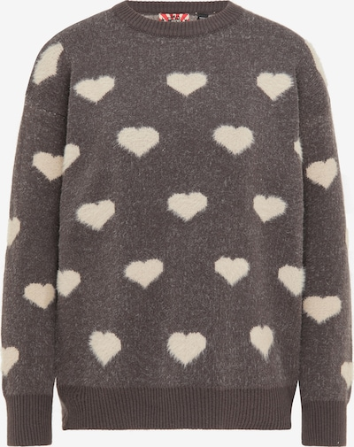 myMo ROCKS Sweater in Mocha / natural white, Item view