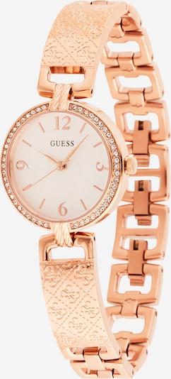 GUESS Analoog horloge in de kleur Rose-goud / Wit, Productweergave