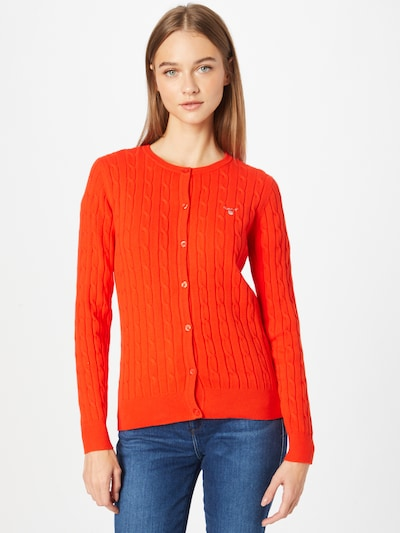 GANT Knit Cardigan in Orange red, View model