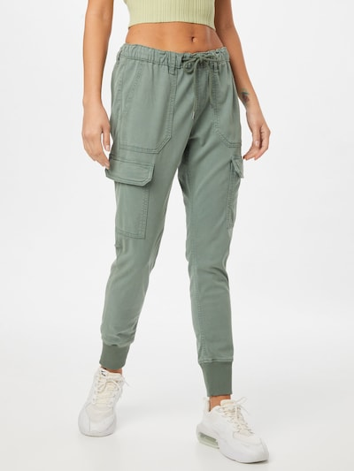 Pepe Jeans Cargojeans 'CRUSADE' in de kleur Groen, Modelweergave