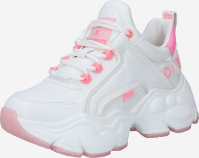 BUFFALO Baskets basses 'BINARY CASH' en rose / blanc, Vue avec produit