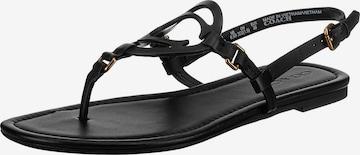 COACH T-Bar Sandals 'Jeri' in Black