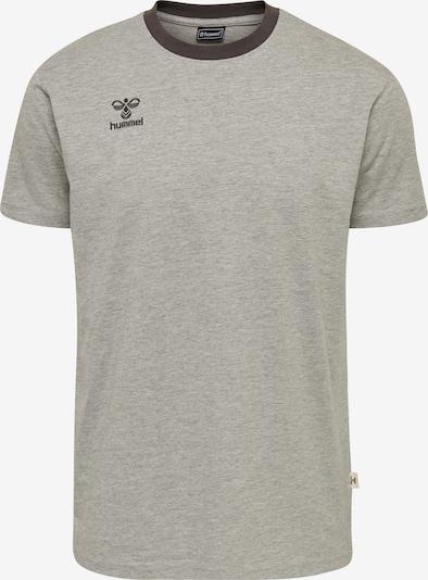Hummel T-Shirt in graumeliert / schwarz: Frontalansicht