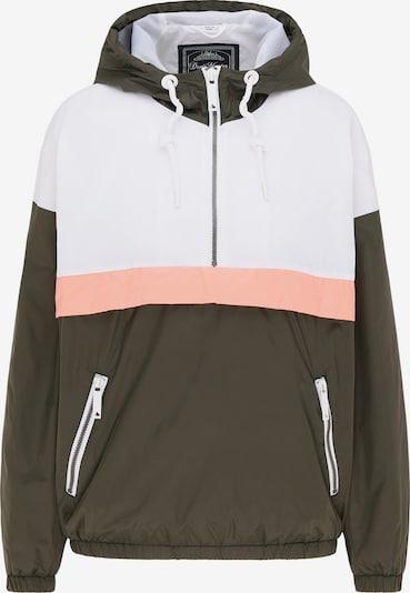 DreiMaster Maritim Jacke in khaki / rosa / weiß, Produktansicht