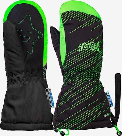 REUSCH Skihandschuhe 'Maxi' in grün / schwarz, Produktansicht