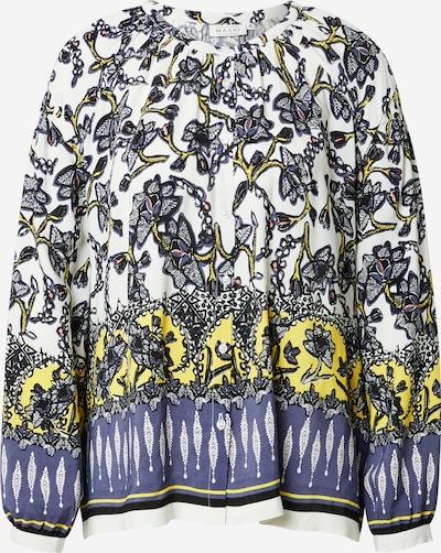 Masai Blouse 'Ivy' in de kleur Blauw / Geel / Zwart / Wit, Productweergave