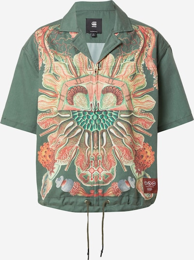 G-Star RAW Bluse 'Hawaiian' in beige / hellblau / grün / hellrot, Produktansicht
