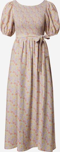 EDITED Kjole 'Karina' i lyseblå / gul / lyselilla / orange, Produktvisning