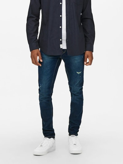 Only & Sons Jeans in de kleur Blauw denim, Modelweergave