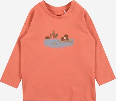 NAME IT Shirt 'Bofir' in rauchblau / braun / greige / grün / koralle, Produktansicht