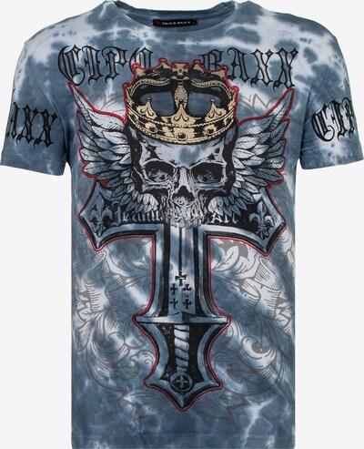 CIPO & BAXX T-Shirt 'BATIK SKULL' in blau, Produktansicht
