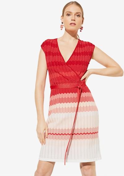 COMMA Kleid in pink / hellrot / weiß, Modelansicht