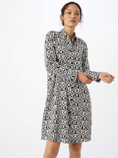 HUGO Kleid 'Emissa' in schwarz / weiß, Modelansicht