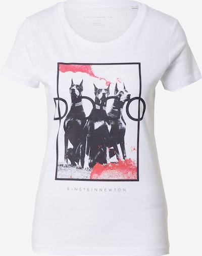 EINSTEIN & NEWTON Majica 'Dogo' u crvena / crna / bijela, Pregled proizvoda