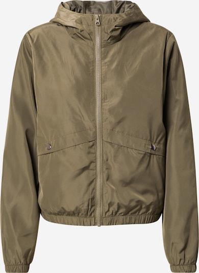 JACQUELINE de YONG Between-season jacket in olive: Frontal view