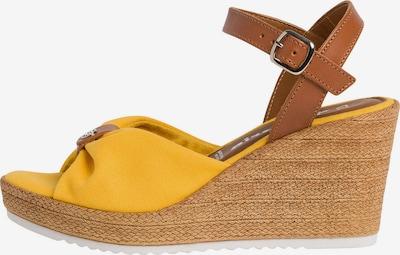 TAMARIS Sandale in cognac / gelb, Produktansicht