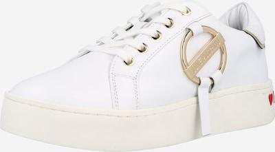 Sneaker low Love Moschino pe auriu - roz / alb, Vizualizare produs