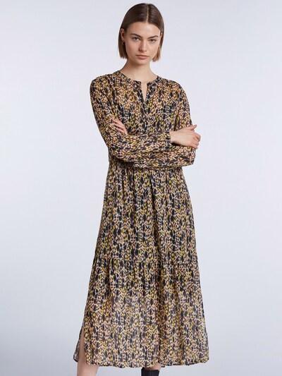 SET Šaty - tmavě žlutá / lososová / černá, Model/ka