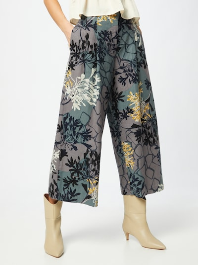 Thought Pantalon à pince 'BRIELLE' en miel / gris / lilas / noir / blanc, Vue avec modèle