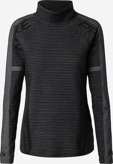 NIKE Funkcionalna majica 'Pro HyperWarm' | pegasto siva / črna barva, Prikaz izdelka