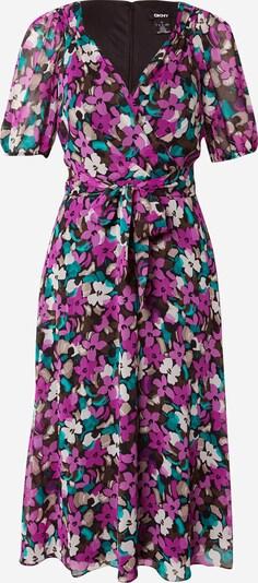 DKNY Šaty - tyrkysová / hnedá / fialová / čierna / biela, Produkt