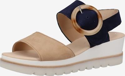 GABOR Sandalen met riem in de kleur Beige / Marine, Productweergave