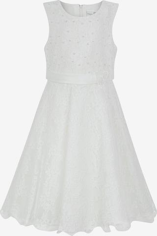 happy girls Dress in White