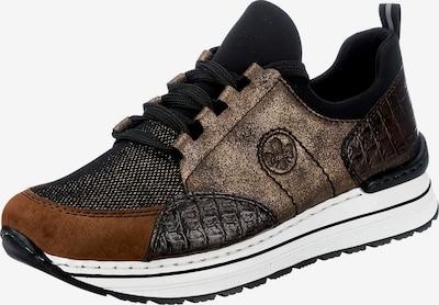 RIEKER Sneakers in Caramel / Dark brown / Bronze / Black, Item view