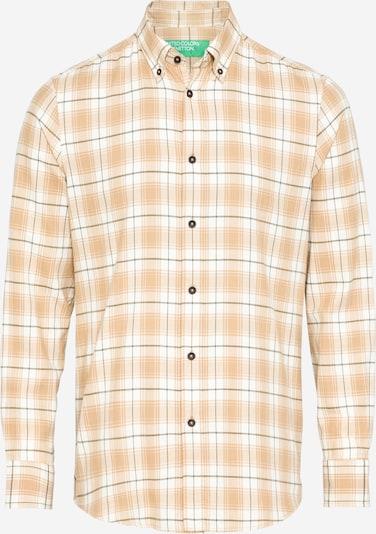UNITED COLORS OF BENETTON Hemd in beige / kitt / oliv / pastellorange, Produktansicht
