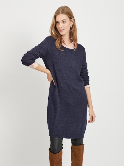 VILA Pletené šaty - tmavomodrá, Model/-ka