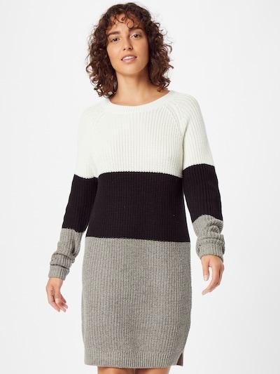 Rochie tricotat 'Siesta' Noisy may pe gri amestecat / negru / alb, Vizualizare model