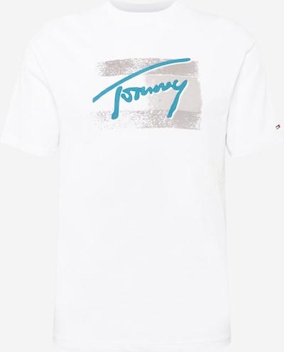 Tommy Jeans T-Shirt en bleu ciel / greige / rouge / blanc, Vue avec produit