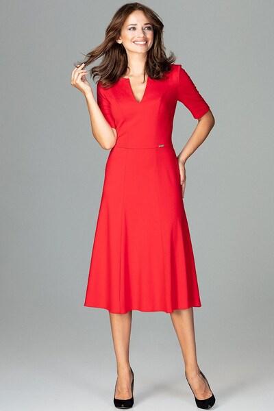 Lenitif Abendkleid in rot, Modelansicht