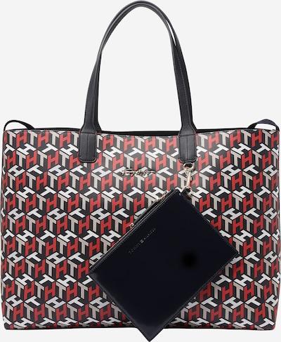 TOMMY HILFIGER Shopper torba u tamno plava / svijetlosiva / crvena / bijela, Pregled proizvoda