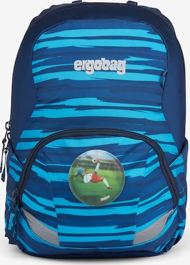 ergobag Rucksack 'Ease' in blau / hellblau / grün, Produktansicht