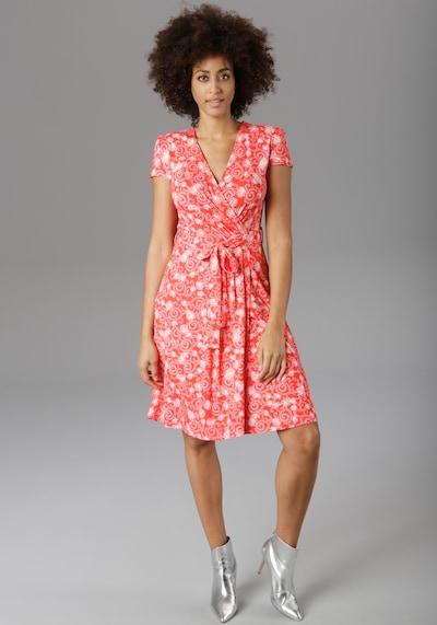 Aniston SELECTED Sommerkleid in hellrot / weiß, Modelansicht