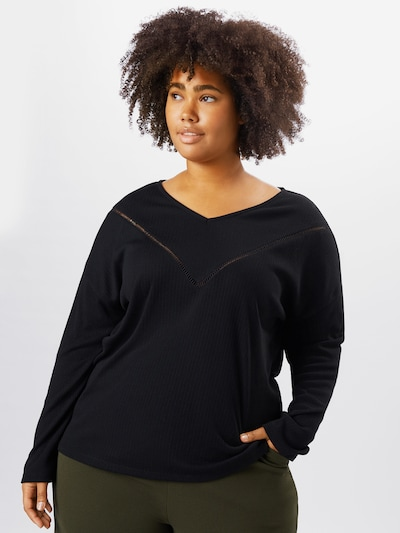 ONLY Carmakoma Shirt 'Camilie' in schwarz: Frontalansicht