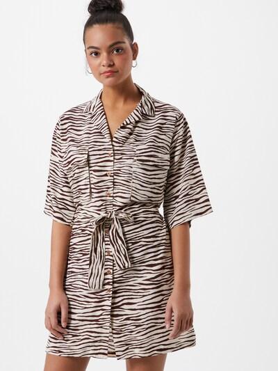 Motel Kleid 'Pamela' in braun / offwhite, Modelansicht