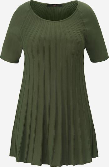 Emilia Lay Rundhals-Pullover mit Raglan-Halbarm in grün / khaki, Produktansicht