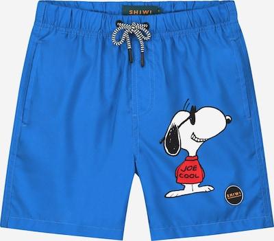 Șorturi de baie 'Snoopy Grin Grin Joe' Shiwi pe azuriu / galben auriu / roșu / negru / alb, Vizualizare produs