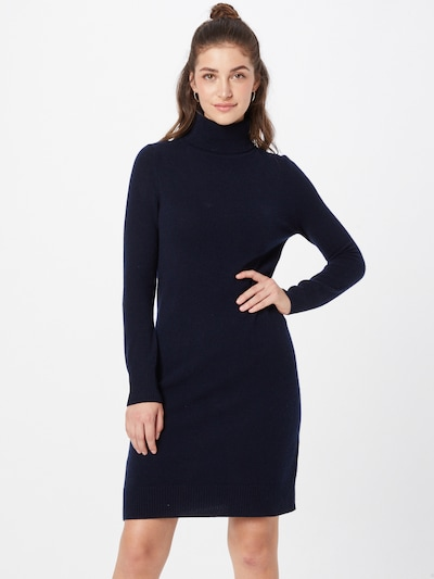 Rochie tricotat Pure Cashmere NYC pe albastru închis, Vizualizare model