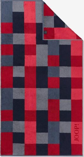 JOOP! Badlaken in de kleur Navy / Duifblauw / Grijs / Rood, Productweergave