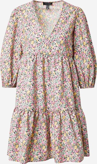 NEW LOOK Robe-chemise en jaune / vert pastel / rose / noir, Vue avec produit