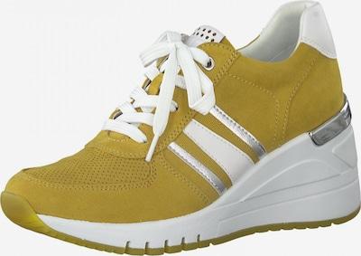 MARCO TOZZI Sneaker in senf / silber / weiß, Produktansicht